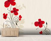 Romantic Floral Illustration wall mural living room preview