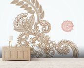Henna Design wallpaper mural living room preview