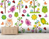 Nursery wall mural living room preview