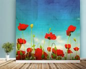 Poppies wall mural in-room view