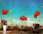 Poppies wall mural kitchen preview