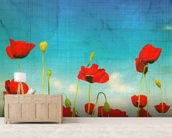 Poppies wall mural living room preview