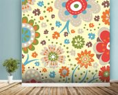 Abstract Floral - Colourful wall mural in-room view