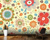 Abstract Floral - Colourful wall mural kitchen preview