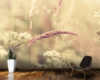 Summer Meadow - Sepia wall mural