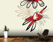 Artistic Abstract Flowers mural wallpaper kitchen preview