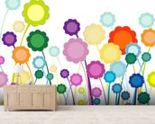 Flowers Painting wall mural living room preview