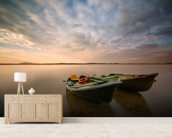 Boats mural wallpaper living room preview
