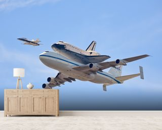 Flying in History - Space Shuttle wallpaper mural