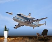 Flying in History - Space Shuttle wallpaper mural kitchen preview