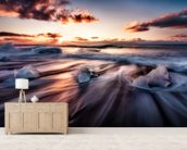Jokulsarlon Diamonds mural wallpaper living room preview