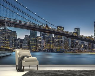 New York - Blue Hour over Manhattan Photo Wallpaper Wall Murals Wallpaper