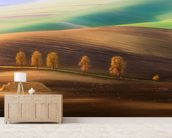 Moravian Trees wall mural living room preview