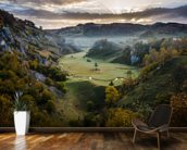 Waiting for the Sunrise - Sureanu Mountains mural wallpaper kitchen preview