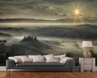 Tuscan Morning wall mural
