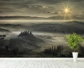 Tuscan Morning wall mural in-room view