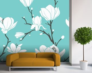 Magnolia Wall Murals Wallpaper