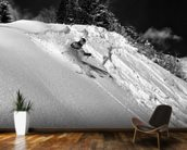 Skiing wallpaper mural kitchen preview