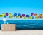 Balloons mural wallpaper living room preview