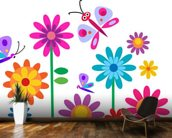 Nursery Springtime Flowers wall mural kitchen preview