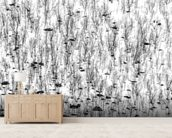 Little Trees wallpaper mural living room preview