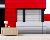 Minimalistic Facade mural wallpaper living room preview