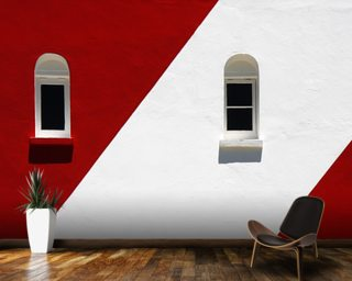 Greenpoint Lighthouse mural wallpaper