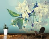 Cherry Blossoms mural wallpaper kitchen preview