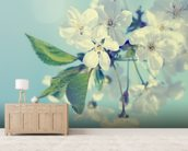 Cherry Blossoms mural wallpaper living room preview