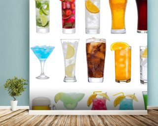 Drinks wall mural