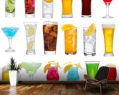 Drinks wall mural kitchen preview