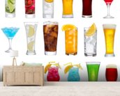 Drinks wall mural living room preview