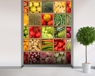 Fruit and Vegetable Collection wall mural