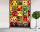 Fruit and Vegetable Collection wall mural in-room view