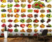 Fruit and Vegetables mural wallpaper kitchen preview