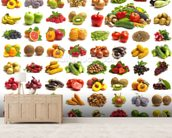 Fruit and Vegetables mural wallpaper living room preview