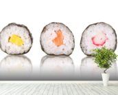 Sushi wall mural in-room view