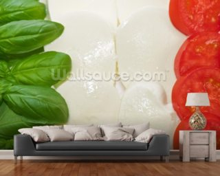 Basil Mozzarella and Tomato wall mural