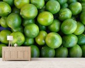 Fresh Limes wallpaper mural living room preview