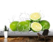 Lime Splash wall mural kitchen preview