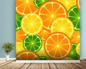 Citrus Fruits wallpaper mural in-room view
