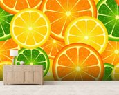 Citrus Fruits wallpaper mural living room preview
