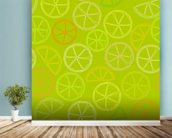 Citrus Pattern wall mural in-room view
