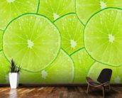 Lime wallpaper mural kitchen preview