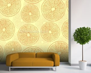 Abstract Oranges wall mural