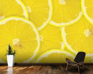 Lemon Slices wallpaper mural