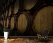 Wine Barrels mural wallpaper kitchen preview