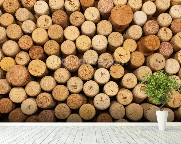 Wine Cork Wall wall mural room setting