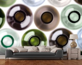 Empty Wine Bottles wallpaper mural