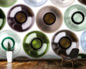 Empty Wine Bottles wallpaper mural kitchen preview